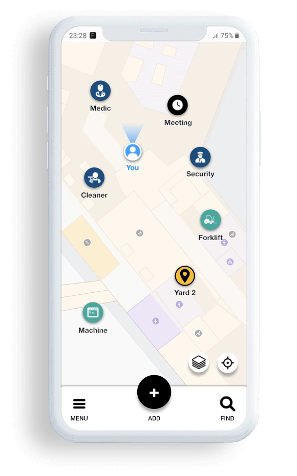 FORMATION Interactive Map app for workers with indoor and outdoor positioning for better teamwork as well as coordination